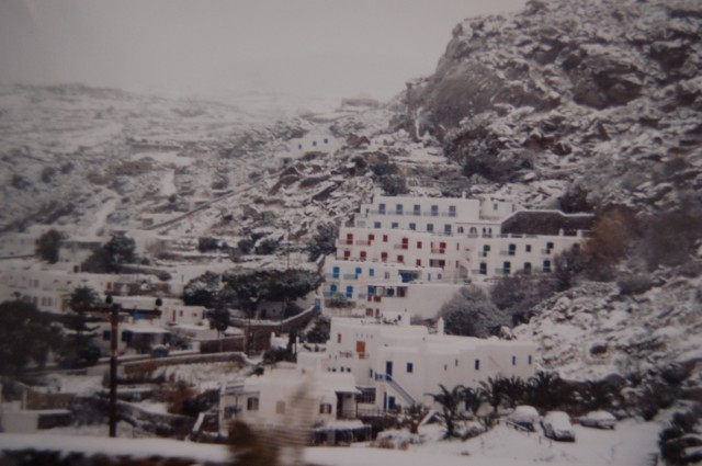 MYKONOS WITH SNOW 1